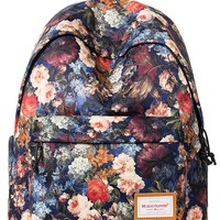 Forestfish Women's Casual Daypack School Backpack 15-inch Laptop Backpack Floral Bag