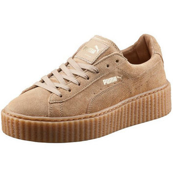PUMA Women Casual Running Sport Shoes Sneakers Khaki