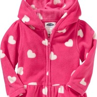 Micro Performance Fleece Hooded Jackets for Baby