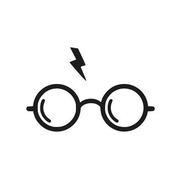 Harry Potter Glasses and lightning bolt Silhouette window vinyl decal sticker