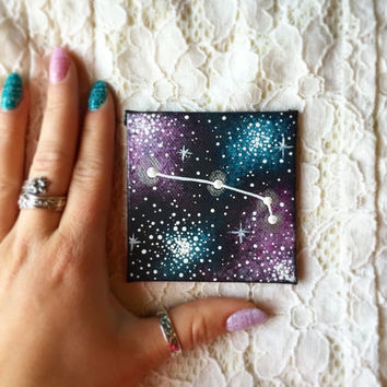 Tiny Hand Painted Aries Constellation Magnet