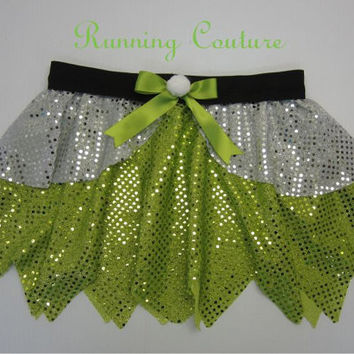 Tinkerbell inspired Sparkle Running Misses round skirt Peter Pan, Tigger Lily