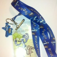 The Regular Show Mordecai and Rigby Lanyard