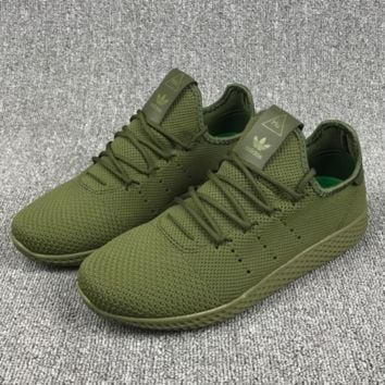 ADIDAS MESH Casual Sports Shoes Army green H-CSXY