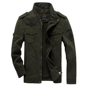 Men's Denim Military Jacket