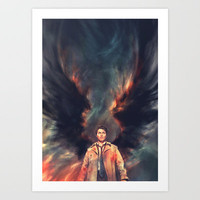 The Angel of the Lord Art Print by Alice X. Zhang