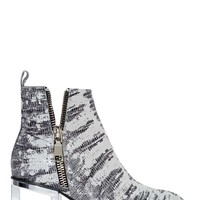 Jeffrey Campbell Boone Bootie - Silver Snake