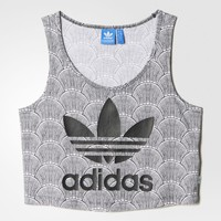 adidas Shell Cropped Tank Top - White | adidas US