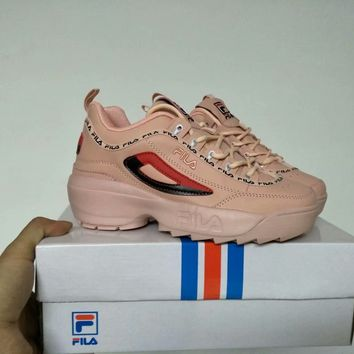 """""""FILA"""" Women All-match Fashion Letter Thick Bottom Shoes Casual Sneakers"""
