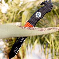 Best EMT Folding Knife with Easy Spring Assisted Opening - Perfect Gift Idea & Not Found in Stores - 100% Satisfaction Guaranteed!