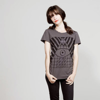 Grey Pyramid Evil Eye Tee (women's fit)