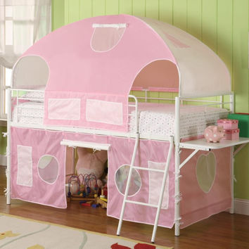 Coaster Fine Furniture Girl Tent Bunk Bed White 460202