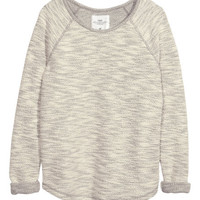 Sweatshirt in Slub Yarn - from H&M
