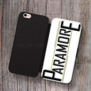 Wallet Leather Case for iPhone 4s 5s 5C SE 6S Plus Case, Samsung S3 S4 S5 S6 S7 Edge Note 3 4 5 PARAMORE LOGO Cases