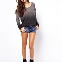 Free People Fabulous Dip Dyed Tee with Long Sleeves at asos.com