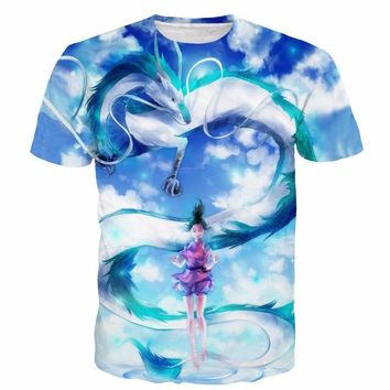 Spirited Away 3D Short Sleeve T-Shirt V2