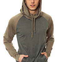 The Lantern 2 Hoodie in Heather Grey and Olive