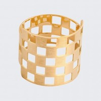 Thick Damier Ring by Charlet par Aime, Designer Fine Jewellery Jewellery, Kabiri Jewellery Store Online