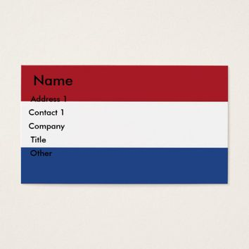 Business Card with Flag of Netherlands