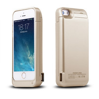 4200mAh for iPhone 5 5S Back Clip Battery External battery Wireless charging Power Case USB can charge two mobile phones