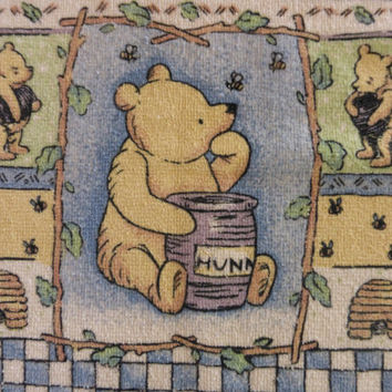 Winnie the Pooh Kitchen Towel, Classic Pooh terry cloth dishcloth, disney pooh bear, cotton kitchen hand towel, teddy bear decor, honey bee