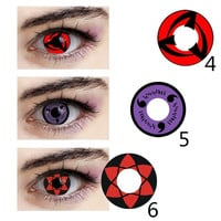 Japanese Cartoon Naruto Cosplay Eyes Cosmetic Contact Lenses