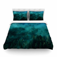"888 Design ""Forest Night"" Green Digital Featherweight Duvet Cover"