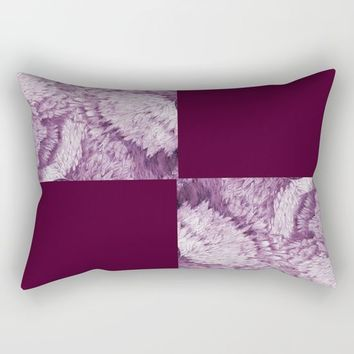 Season of the Square - Symmetry in Magenta Rectangular Pillow by michael jon