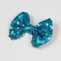 White Shimmering Sequin Hair Bow – Claire's
