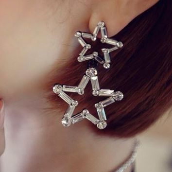 Star on Star Statement Earrings - LilyFair Jewelry