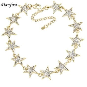 Danfosi Rhinestone Star Collar Chokers Necklace Statement Jewelry luxury Maxi Necklaces For Women Torques Bijoux Femme N4183