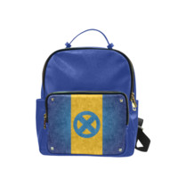Psylocke Taiga Leather Backpack with X Men Logo