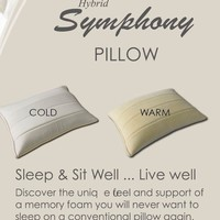 Hybrid Symphony Memory Foam Pillow by Abripedic (each)