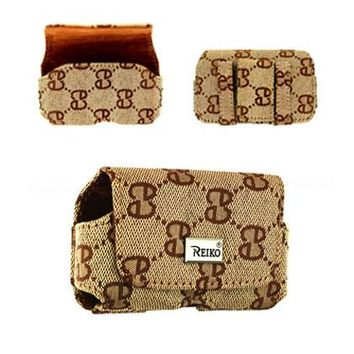 HORIZONTAL POUCH NYLON HN03 S IN BROWN WITH DOUBLE E DESIGN 3.5X1.9X0.9 INCHES: Case Of 120