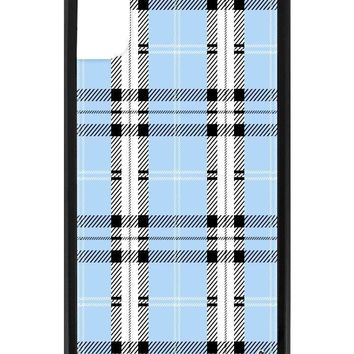 Blue Plaid iPhone X Case