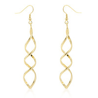 Golden Twist Earrings, 18k Gold
