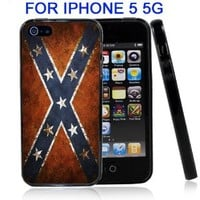 IP5 Confederate Rebel Flag Iphone5 5G Case Cover