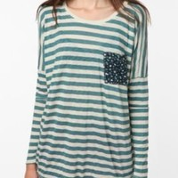 UrbanOutfitters.com > Truly Madly Deeply Contrast Pocket Long Sleeve Tee