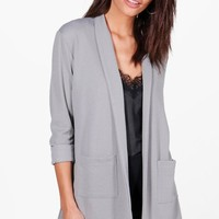 Sarah Textured Pocket Blazer | Boohoo