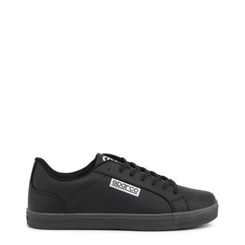 Sparco Black Lace-Up Sneakers
