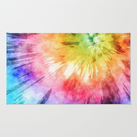 Tie Dye Watercolor Rug by Phil Perkins