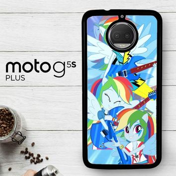 Rainbow Dash Rock R0173  Motorola Moto G5S Plus Case