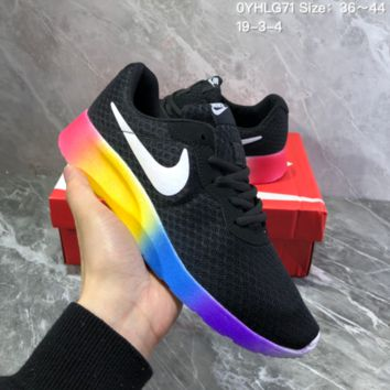 DCCK2 N830 Nike Roshe Run One Seven Rainbow Series Running Shoes Black