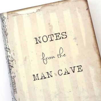 Man Cave Journal, Gift for Him, Gag Gift, Bachelor Party Favors, Mini Retro Notebook, Father's Day Gift, Man Cave Decor