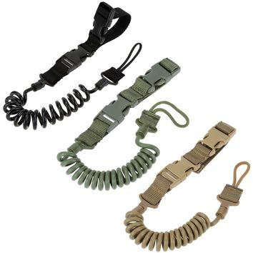 LumiParty Multifunctional Tactical Elastic Lanyard, Outdoor Anti-lost Spring Sling Key Chain Safety Rope