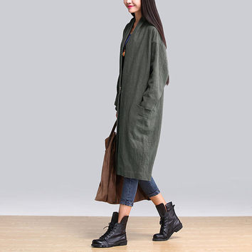 women cotton coat winter coat loose coat plus size clothing