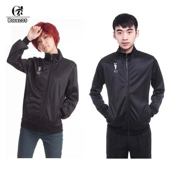 Anime Haikyuu Men Jacket Uniform Karasuno High School Volleyball Club Cosplay Costumes Male Clothes High Quality Ship from US