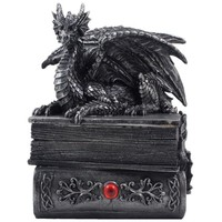 Gothic Medieval Dragon Trinket, Jewelry Hidden Compartment Box
