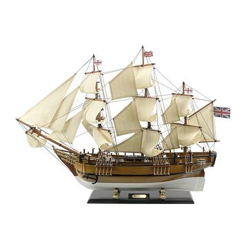 Wooden Charles Darwins HMS Beagle Limited Model Ship 34""