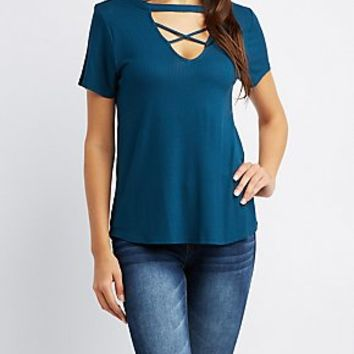 Casual Tops & Day Tops: Lace Up, Striped, & More | Charlotte Russe